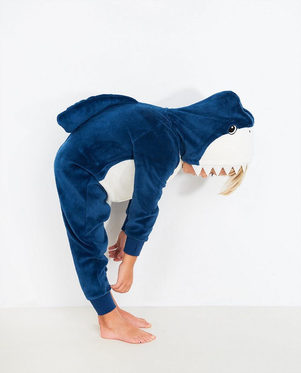 Combinaison bleue - requin avec un capuchon - JBC